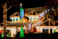 Christmas Lights at Thoroughbred St, Rancho Cucamonga